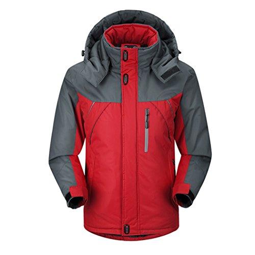 Real Spark(TM) Mens Fleece Windproof Waterproof Mountain Outdoor Ski Jacket Red L