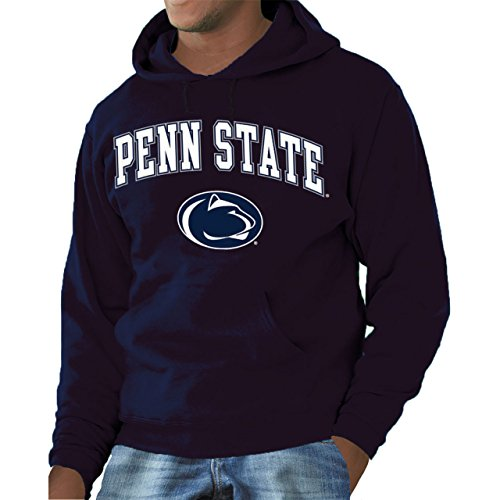 Lions Arch - Campus Colors Penn State Nittany Lions Arch & Logo Gameday Hooded Sweatshirt - Navy, Small