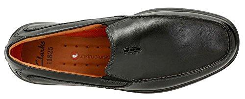 CLARKS Men's, Uneasley Twin Loafer Black 15 M