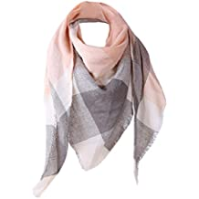ShenPr Clearance Women Big Grid Stitching Color Shawl Cashmere Autumn Plaid Wool Scarves Scarf