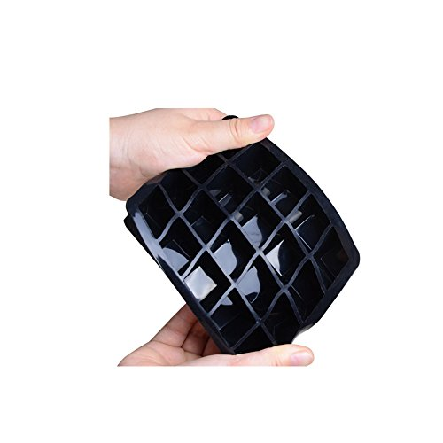 CHICHIC 20 Cavity 1 Inch Silicone Ice Cube Trays Ice Cube Molds Maker Flexible Mini Square Ice Tray Mould, FDA Certified BPA Free for Whiskey, Cocktail, Beverages, Set of 2