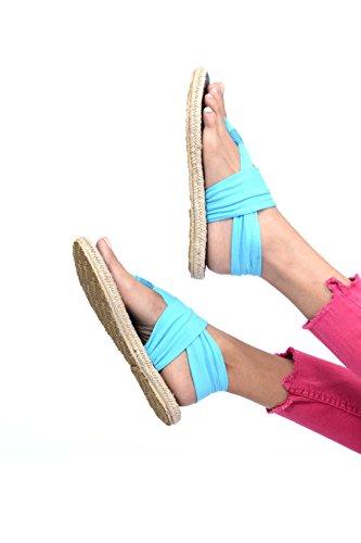 3e212ce69f04 ... Ganika Turkis Nalho Kvinners Yoga Matte Memory Foam Espadrilles  Sandaler