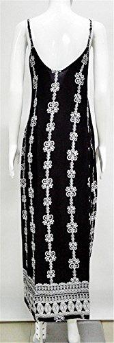 Allonly Femmes Taille Plus Mode Floral Cou Imprimé V Dos Nu Maxi Boho Beach Party Casual Robe Bracelet Floral 5