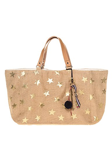 Star Mela Women's Lexi Print Tote Women's Beige Bag With Print Beige by STAR MELA