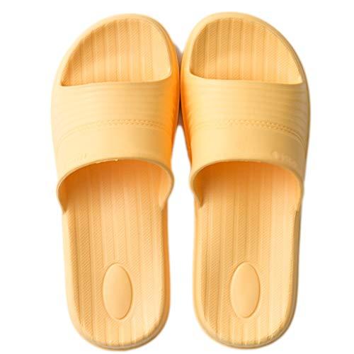 Mode Jaune Bain Couleur 39 Couple Pantoufles des d'été Porter Jaune modèles Sauvage AMINSHAP et d'intérieur féminins Pantoufles des Sandales Chaussons Le Taille de 40EU Le H7Yqw