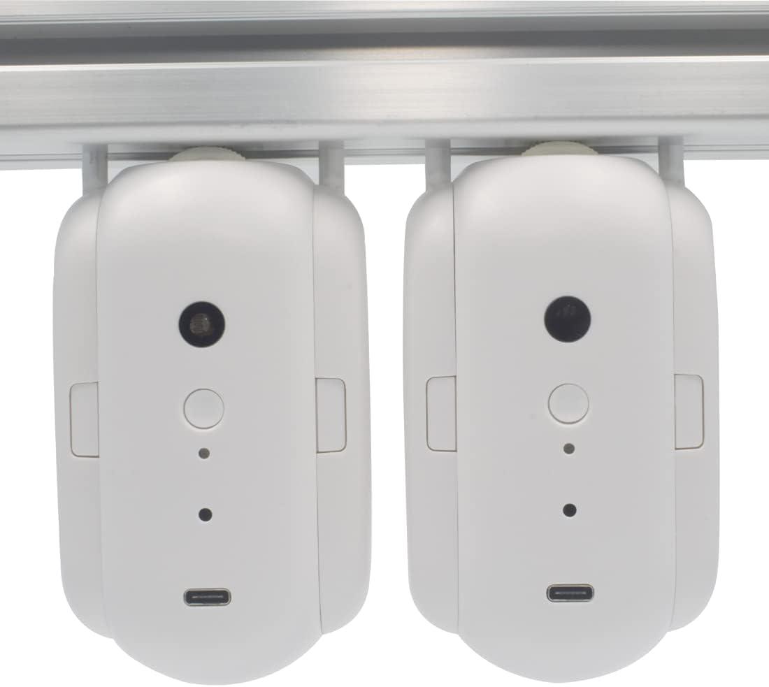 SOLE HOME 2 unids robot de abridor de cortina, controlador automático de cortina Bluetooth con sensor de temperatura de brillo, control de aplicación, funciona con Alexa Google Home