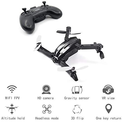 折り畳み式のミニ自撮りドローン3d 折り畳み式腕 Rc クワッドローター720p の広角 HD カメラクワッドローター Rc ヘリコプター Black