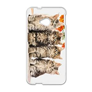 Animal Series Cute Cat Design Hot White Case For HTC One M8 With Best Plastic By All My Dreams