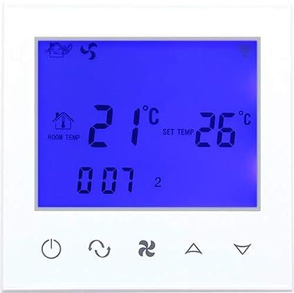 Beok TDS21WIFI-AC2-WB - Bobina de ventilador termostato con pantalla táctil para control