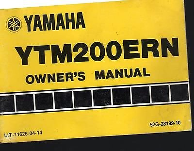 1984 YAMAHA ATV 3 WHEELER YTM200ERN OWNERS MANUAL