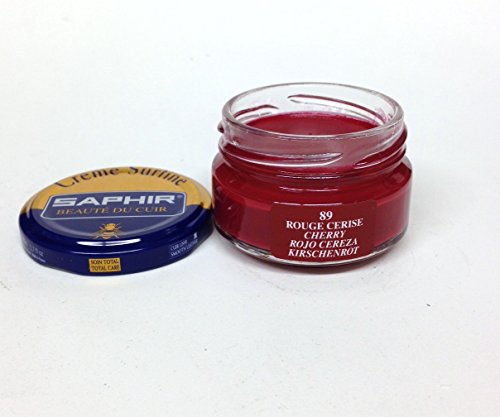 Cherry Red Shoes - Saphir Shoe Cream Beaute du Cuir Creme Surfine 50ml glass jar (Cherry)
