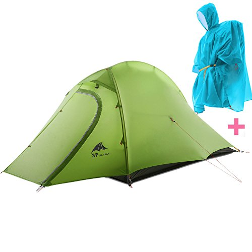 3F Mountaineering Tent 2-Person 3-season 15D Lightweight Backpacking Tent