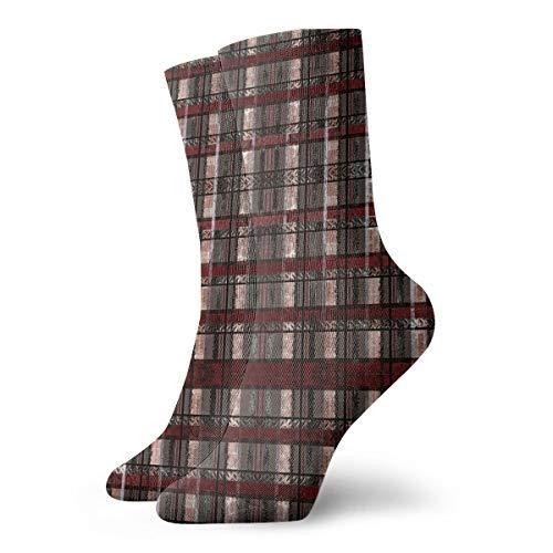 HUSJHD Interesting Socks GORY Grunge Plaid Women Girl Novelty