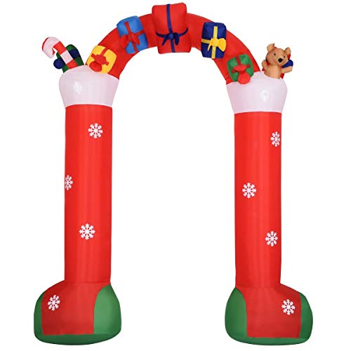 USA_BEST_SELLER 10' Inflatable Christmas Decoration Stocking Archway Indoor Outdoor Garden Yard Family Prop -