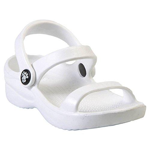 Kids' Dawgs 3-Strap Sandals White Size 1