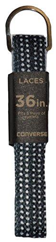 Converse Unisex Replacement Cord Shoe Laces Flat Style Shoelaces (Black Polka Dot, (Polka Dot Converse Shoes)