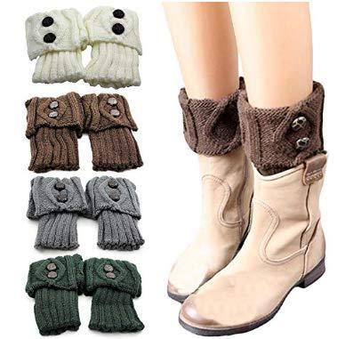 Mio.oo Las Mujeres calientan Las Botas Cortas, los Calcetines, los puños de