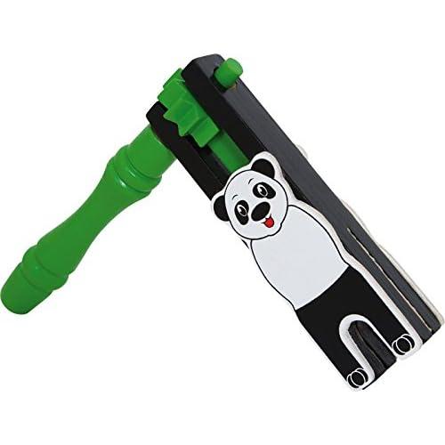 Jouetprive-Crécelle panda en bois