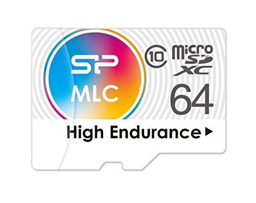 64GB Silicon Power High-Endurance microSDXC CL10 MLC Memory Card by Silicon Power