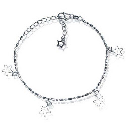 JewelryVolt Brass Bracelet/Anklet with dangling stars
