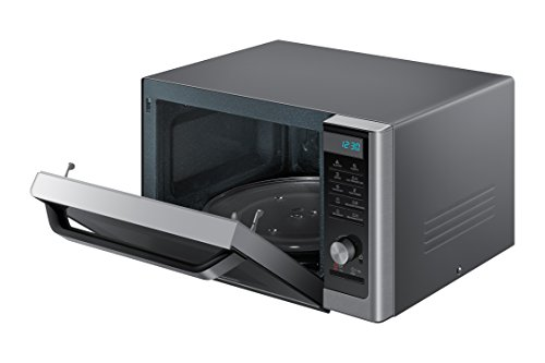 Samsung MC11H6033CT Countertop Convection Microwave with 1.1 cu. ft. Capacity, SLIM FRY Technology, Grilling Element, Ceramic Enamel Interior, Drop Down Door, and Eco Mode in Stainless Steel