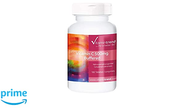 Ascorbato de calcio 500mg - Sin estearato de magnesio - 180 tabletas - para la mayor producción de colágeno: Amazon.es: Salud y cuidado personal