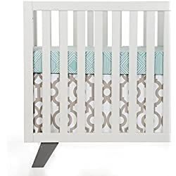 Glenna Jean Sweet Potato Soho Boy's 2 Piece Starter Set (Includes Aqua Print Sheet & Crib Skirt)