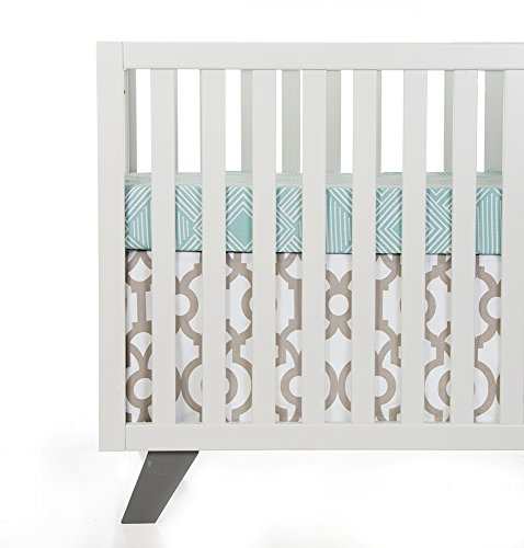 Sweet Potato Soho 2 Piece Starter Set (Includes Aqua Print Sheet & Crib Skirt) (Multi Print Soho)