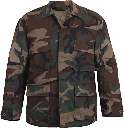 (AccessoriesClothing New Mens Woodland Camouflage Military BDU Shirt Tactical Uniform Coat Army Fatigues)