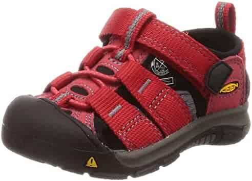 Keen Baby Newport H2 Water Shoe, Ribbon red/Gargoyle, 4 M US Toddler