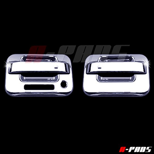 A-PADS 2 Chrome Door Handle Covers for Ford F150 2004-2014 - WITH Keypad & WITHOUT Passenger Keyhole