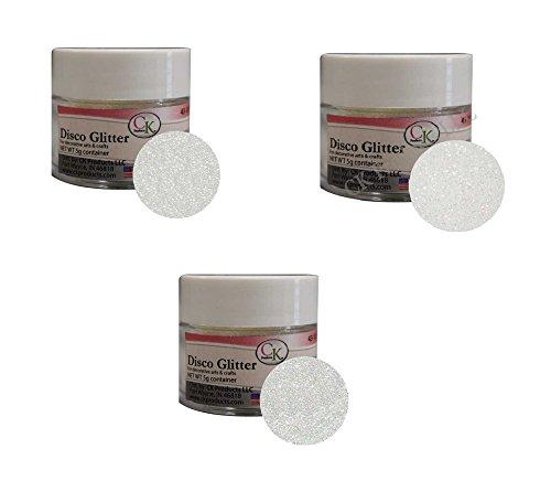 Price comparison product image Disco Glitter - 3-Color Assortment: White,  Pixie Dust & Rainbow