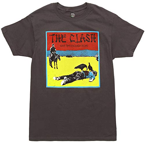 FEA The Clash Give 'Em Enough Rope Men's T-Shirt - Charcoal Grey (X-Large)