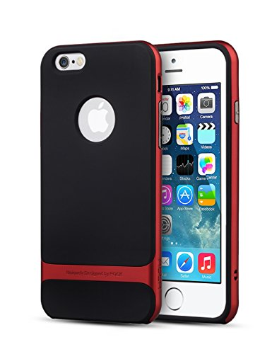 iPhone 6 Case, E-Trends(TM) iPhone 6 (4.7) Bumper Case Scratch Resistant- Retail Packaging (Red)