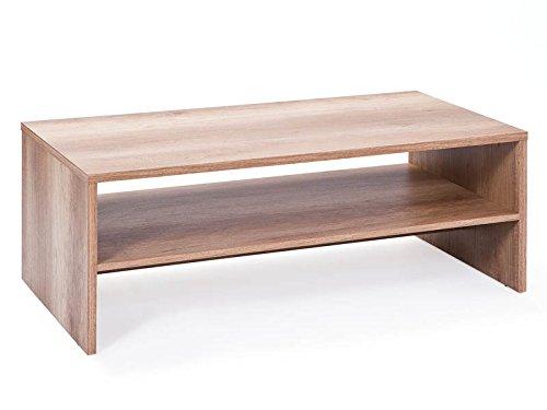 Inter Link 22500700 Couchtisch Wohnzimmertisch Tisch Wohnzimmer Beistelltisch Wildeiche 115x60 cm