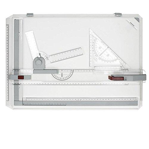 ECD Germany Kit Multifunzionale Tavolo Disegno A3 Grafico Piastra Refrigerante Tavola Grafico Portabile