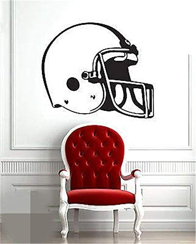 Wall Stickers for Living Room Football Helmet Head Piece Sport Wall Decals for Boys Room
