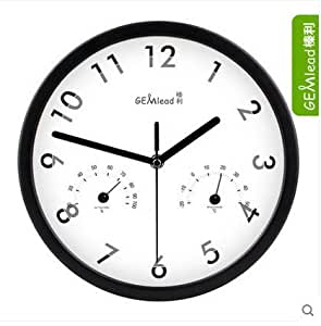 Free Shipping K1207 Brief Style 30cm Wall Clock With Temperature And Humidity Living