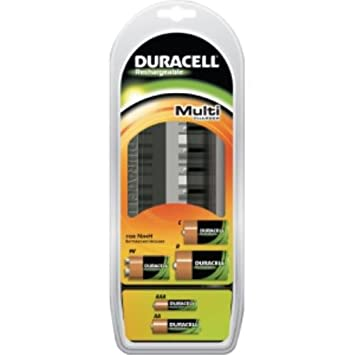 Duracell Multi Charger - Cargador (8h, Negro, 9v, AA, AAA, C ...
