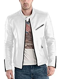 Amazon.com: Whites - Leather & Faux Leather / Jackets & Coats ...