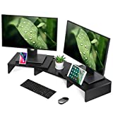 FITUEYES Computer Monitor Riser Desktop Laptop Stand Length Angle Adjustable Speaker PC Stand DT111101WB