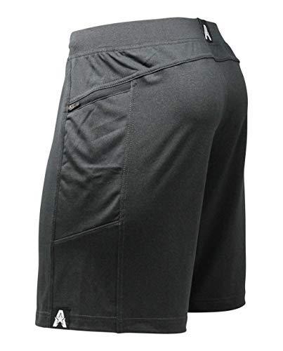 "Anthem Athletics Hyperflex 9"" Crossfit Workout Training Gym Shorts - Volcanic Black G2 - Medium"