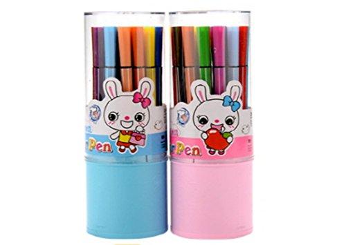 Marker Pen, medium point Set of 24 color (2 Set) ()