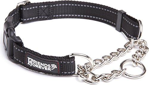 Friends Forever Martingale Collars for Dogs, Reflective No Pull Dog Collar for Training Large/Medium Breed Dogs, - D-ring Collar Training
