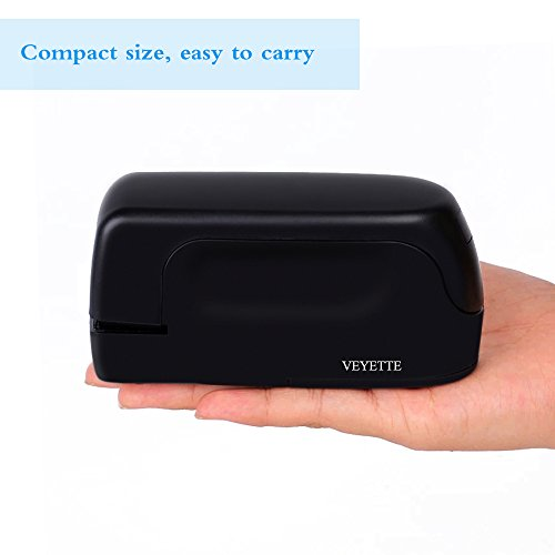 Stapler, Veyette Automatic Electric Stapler for Office School and Home, AC Adaptor Included, Battery Operated, 20 to 25 Sheets Capacity, Use Standard Staples, Black by Veyette (Image #3)