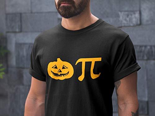 Pumpkin Pi Tshirt, Funny Halloween T shirt, Geek Math Pi Graphic Tee, Printed on American Apparel ()