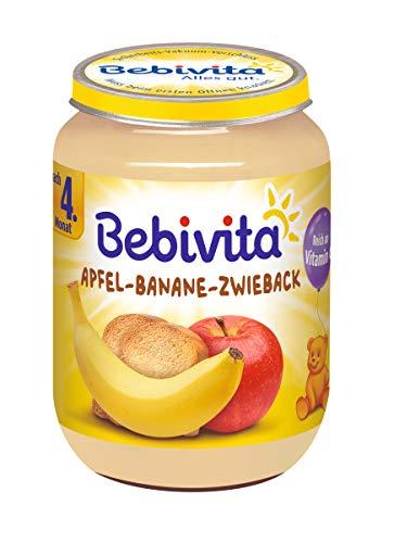 Bebivita Apfel-Banane-Zwieback, 1er Pack (1 x 190 g) 123486 Frucht & Getreide 190 g Nachspeise Pantry Zwischenmahlzeit
