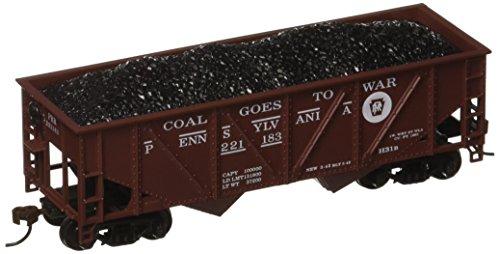 HO 36' Hopper w/Coal Load, PRR from Mantua