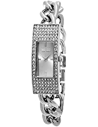 Womens 5058.1 Madison Quartz Crystal Filled Bezel Slim Stainless Steel Chain Link Bracelet Watch