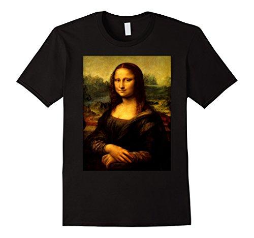 Famous Tee Shirts - Mens Mona Lisa by Leonardo Da Vinci Portrait T-Shirt 3XL Black